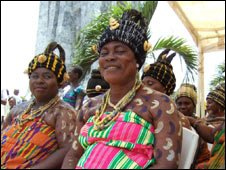 Ghanaian women celebrate in Accra
