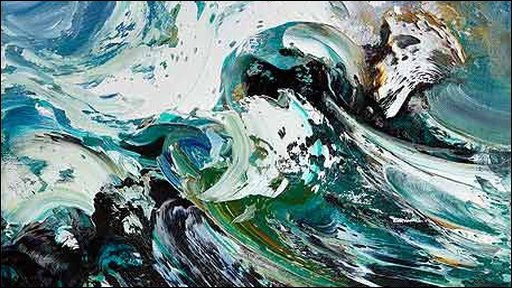Crest Of A Wave (detail) by Maggi Hambling