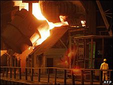 Mittal's steelworks in Dabrowa Gornicza, southern Poland