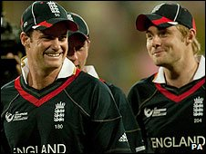 Andrew Strauss and Luke Wright