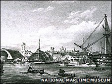 Princess Victoria arriving at Devonport, 1833