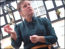 Ruthin ghost tour leader, Ruth