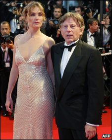 Roman Polanski and Emmanuelle Seigner 2002