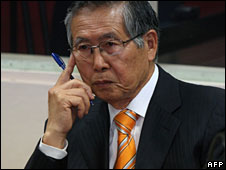 Alberto Fujimori in court, 28 Sept 2009