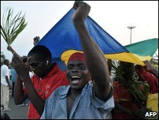Opposition supporters in Libreville, 02/09