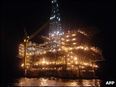 Angolan oil rig