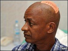 Cellou Dalein Diallo in a Conakry clinic