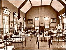 Early ward in Sheffield Children's Hospital, 1870s