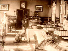 One of the early wards at the Children's Hospital in Sheffield