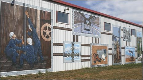 A large mural in Brooks, Alberta
