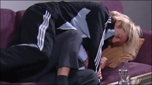 Robbie Savage bundles BBC commentator Ian Gwyn Hughes