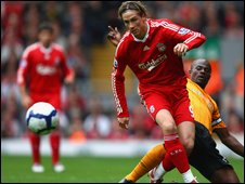 Torres during his hat-trick performance against Hull