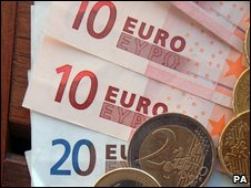 File image of euros