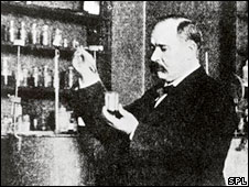Svante Arrhenius in his lab