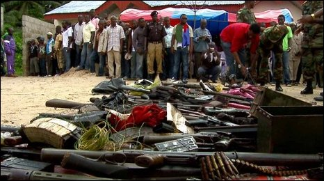 Decommissioned weapons in Niger Delta