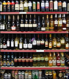 Inside of a UK off licence (file pic)