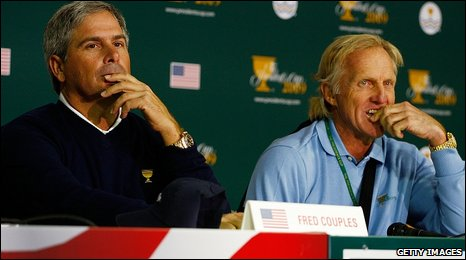 Fred Couples and Greg Norman
