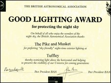 Good Lighting Award certificate