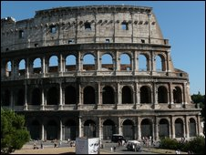The Coliseum, a Roman amphitheatre