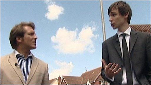 BBC reporter David Whiteley (left) and Chris Bath