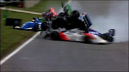Jos Verstappen's spectacular crash at the 1994 Brazilian GP
