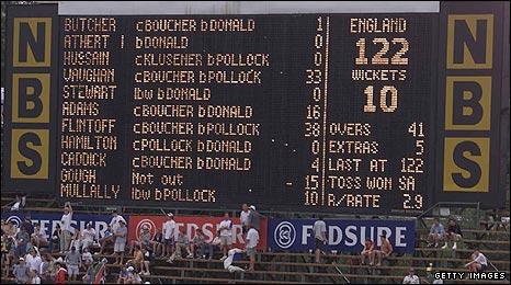 The Wanderers scoreboard