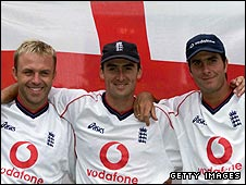 Chris Adams, Gavin Hamilton and Michael Vaughan