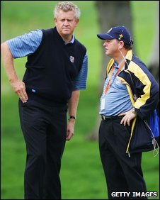 Colin Montgomerie and Ian Woosnam