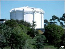 The Lucus Heights nuclear reactor in Sydney - undated file photo