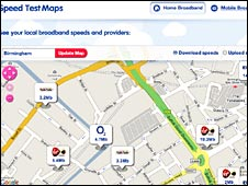Screen grab of map on SteetStats