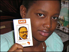 Girl with Omar Bongo trump card