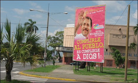 Government poster in Managua