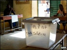 A polling station in Niamey