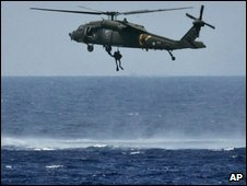 Israeli air force helicopter simulates a rescue