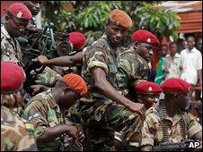 Guinea troops
