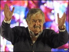 Jose Mujica at his closing camaign rally