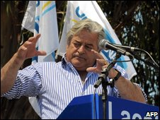 Luis Lacalle at a rally on 18 October