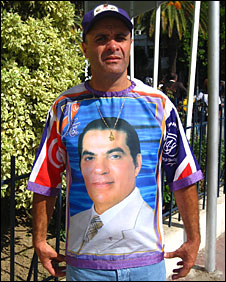 Supporter of Zine El Abidine Ben Ali