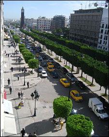 View of central Tunis