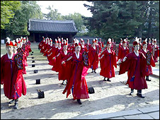 Traditional Confucian dancers
