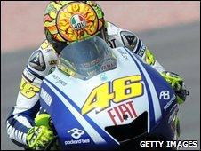 Valentino Rossi on the track at Sepang