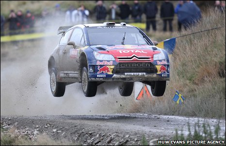 Sebastien Loeb kept up his fierce pace on the second day