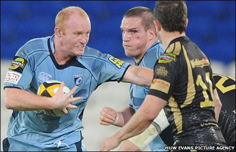 Martyn Williams and Gethin Jenkins take on the Ospreys