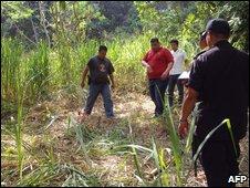 Woodland near Choloma where body of Enzo Micheletti was found