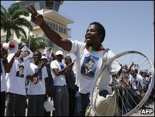 Supporters of Renamo leader Afonso Dhlakama