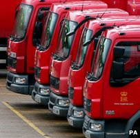 Royal Mail lorries