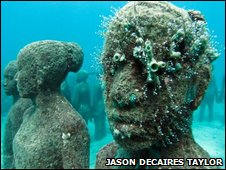 Underwater sculpture in Grenada