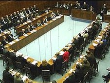 The first sitting of the devolved Northern Ireland Assembly