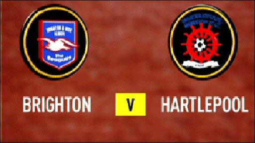 Brighton 3-3 Hartlepool