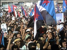 South Yemen separatist demonstrators